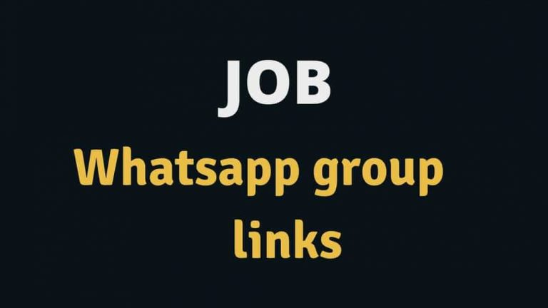 Job whatsapp group link 2020