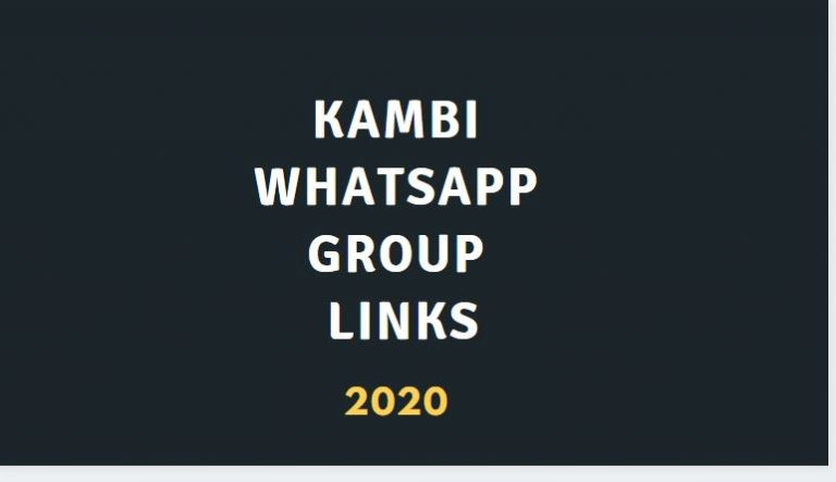 Join 100+ Kambi WhatsApp group link 2020