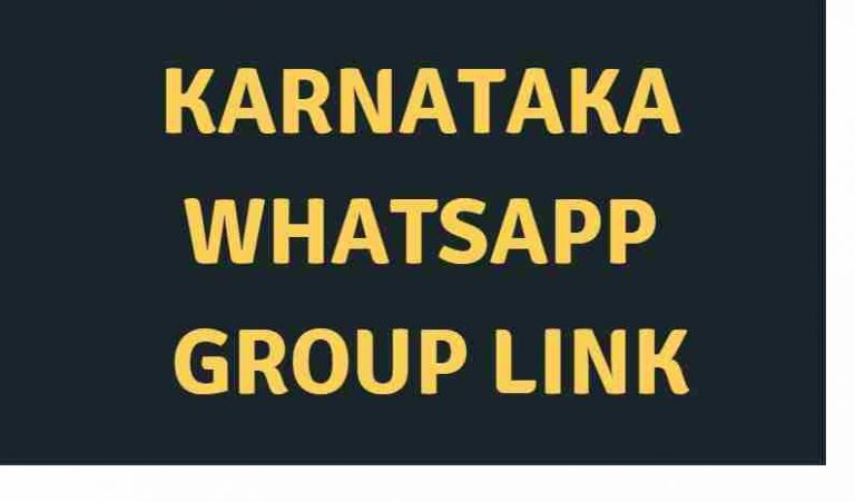 Karnataka Whatsapp group link – 2021