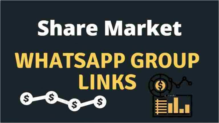 Share market Whatsapp group link – 2021